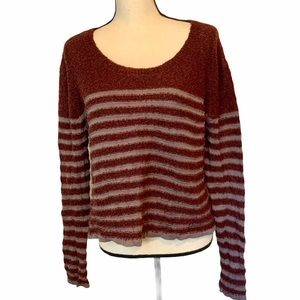 BP Striped Crop Sweater from Nordstrom size Large